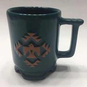 Frankoma C1 Pottery Coffee Mug Thunderbird Green